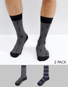 2 пары носков (в полоску/ с молниями) Levis - Черный Levis®