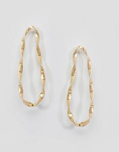 Крученые серьги-кольца DesignB London - Золотой