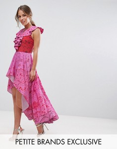 Платье макси со шнуровкой White Cove Petite - Розовый