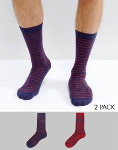 Набор из 2 пар носков (темно-синие/ с узором Фэйр-Айл) Levis - Темно-синий Levis®