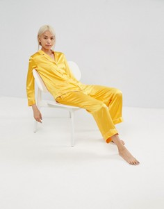 Пижама из 100% шелка ASOS WHITE - Оранжевый
