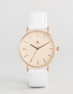 Часы с кожаным ремешком ASOS - Кремовый