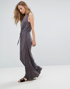 Платье макси с кружевной отделкой Bellfield Violet - Серый