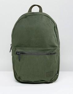 Выбеленный хлопковый рюкзак Herschel Supply Co Lawson - Зеленый