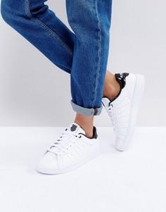 Белые кроссовки с черной отделкой K-Swiss - Белый