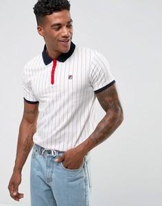 Белая футболка-поло в полоску Fila Vintage - Белый