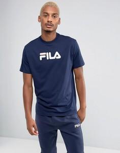 Темно-синяя футболка с логотипом в стиле ретро Fila - Темно-синий