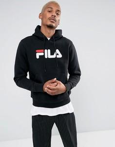 Худи черного цвета с крупным логотипом Fila Vintage - Черный