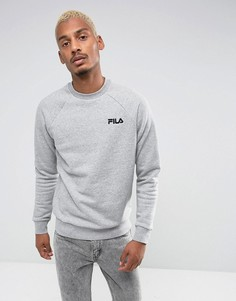 Серый свитшот с черным логотипом Fila - Серый