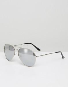 Солнцезащитные очки-авиаторы 7x - Серебряный