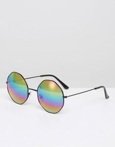 Черные солнцезащитные очки с шестиугольными стеклами 7X - Черный