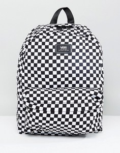 Рюкзак в шахматную клетку Vans Old Skool II VONIHU0 - Черный