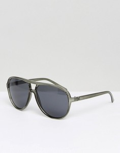 Серые солнцезащитные очки-авиаторы Jack & Jones - Серый