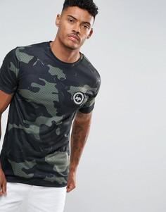 Камуфляжная футболка Hype - Зеленый