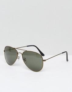 Черные солнцезащитные очки-авиаторы Jack & Jones - Черный