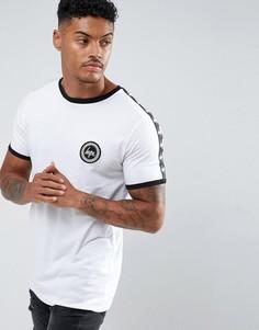 Белая футболка с отделкой лентой Hype - Белый