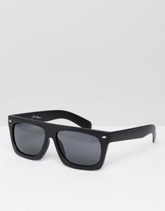 Солнцезащитные очки в квадратной оправе с прямым верхом Jeepers Peepers - Черный