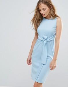 Платье без рукавов с завязкой на талии Daisy Street - Синий