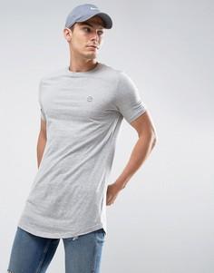 Длинная меланжевая футболка Le Breve - Серый