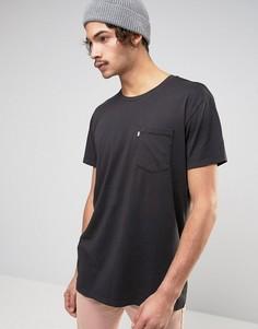 Удлиненная футболка с карманом Levis Line 8 - Черный