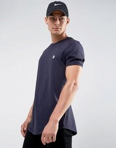 Длинная футболка с закругленным краем Le Breve - Темно-синий