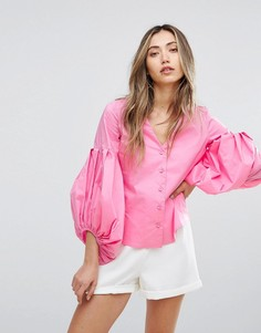 Рубашка с пышными рукавами Pearl - Мульти
