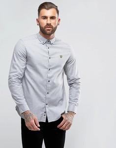 Серая меланжевая рубашка из шамбре Lyle & Scott - Серый