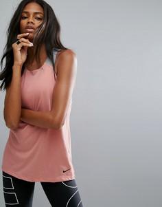 Свободная дышащая майка Nike Training - Розовый