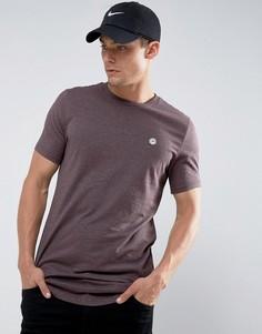 Длинная меланжевая футболка Le Breve - Фиолетовый
