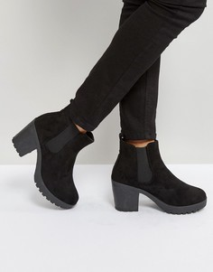 Ботинки челси на каблуке Truffle Collection - Черный