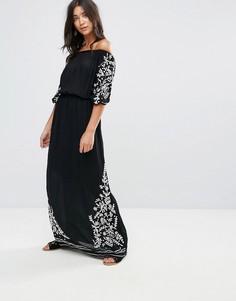 Платье макси с открытыми плечами Glamorous - Черный