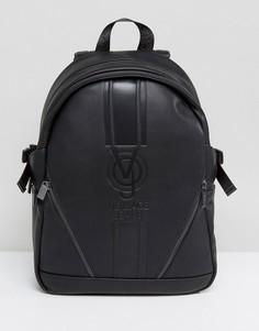 Черный рюкзак с большим логотипом Versace Jeans - Черный