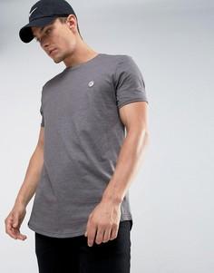 Длинная футболка с закругленным краем Le Breve - Серый