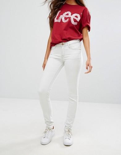 Выбеленные зауженные джинсы Lee Scarlett - Белый