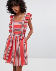 Платье с оборкой d.RA Malibu - Красный