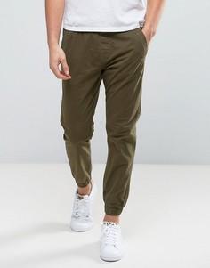 Узкие брюки с манжетами Jack & Jones Intelligence - Черный