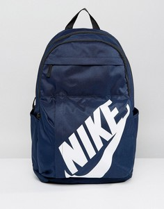 Темно-синий рюкзак с логотипом Nike BA5381-451 - Темно-синий