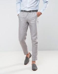 Льняные узкие брюки Jack & Jones Premium - Серый