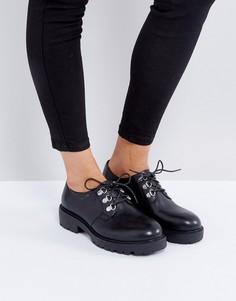 Черные кожаные туфли на шнуровке Vagabond Kenova - Черный