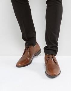 Кожаные туфли дерби светло-коричневого цвета ASOS - Рыжий