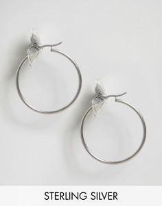 Цветочные серьги-кольца Regal Rose - Серебряный