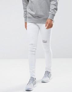 Белые состаренные джинсы скинни ASOS - Белый