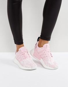 Светло-розовые кроссовки adidas Originals NMD R2 - Розовый
