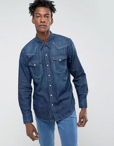 Темная выбеленна джинсовая рубашка в стиле вестерн Levis Barstow - Темно-синий Levis®