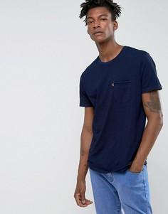Футболка цвета индиго с карманом Levis Sunset - Темно-синий Levis®