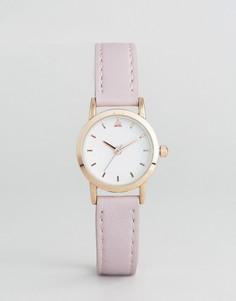 Маленькие часы со светло-розовым ремешком ASOS - Фиолетовый