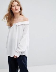 Рубашка с широким воротником Weekday - Белый