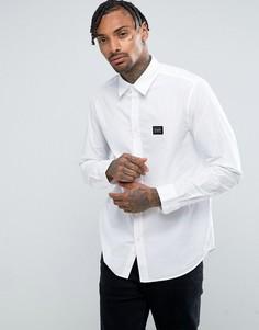 Белая рубашка с нашивками Love Moschino - Белый