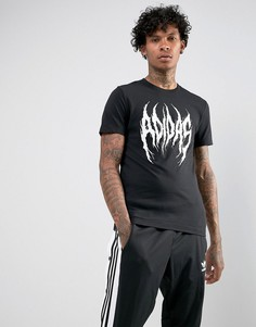 Черная футболка adidas Originals Font BS3128 - Черный