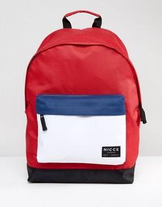 Красный рюкзак колор блок Nicce - Красный